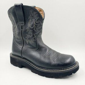 Ariat Black Leather Fat Baby Western Cowboy Boots